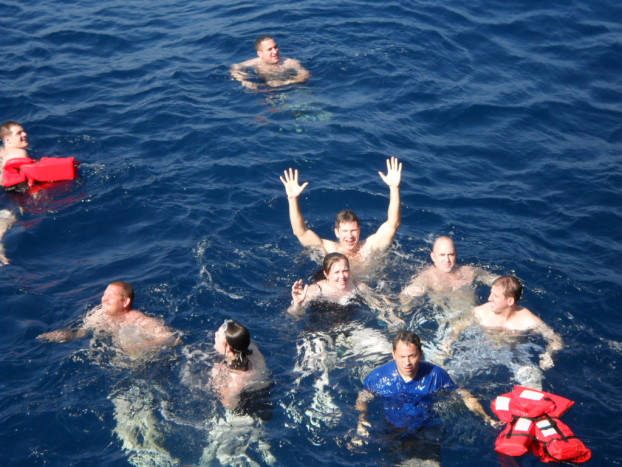 Jumping overboard for Swim Call off the Coast of Yemen 9