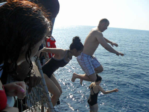 Jumping overboard for Swim Call off the Coast of Yemen 4