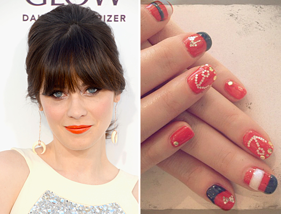 zooey-deschanel-nail-art
