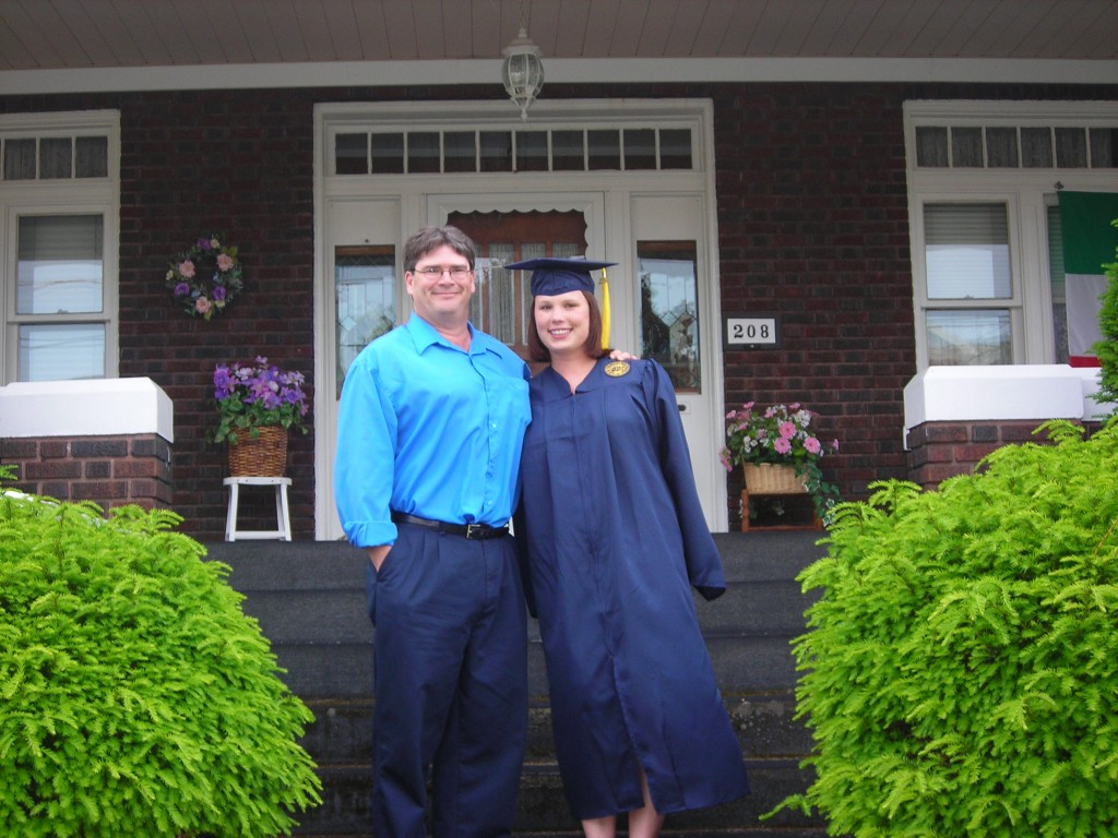 College Graduation with Dad