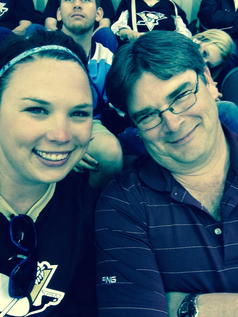 Penguins game with Dad! Pittsburgh Hockey