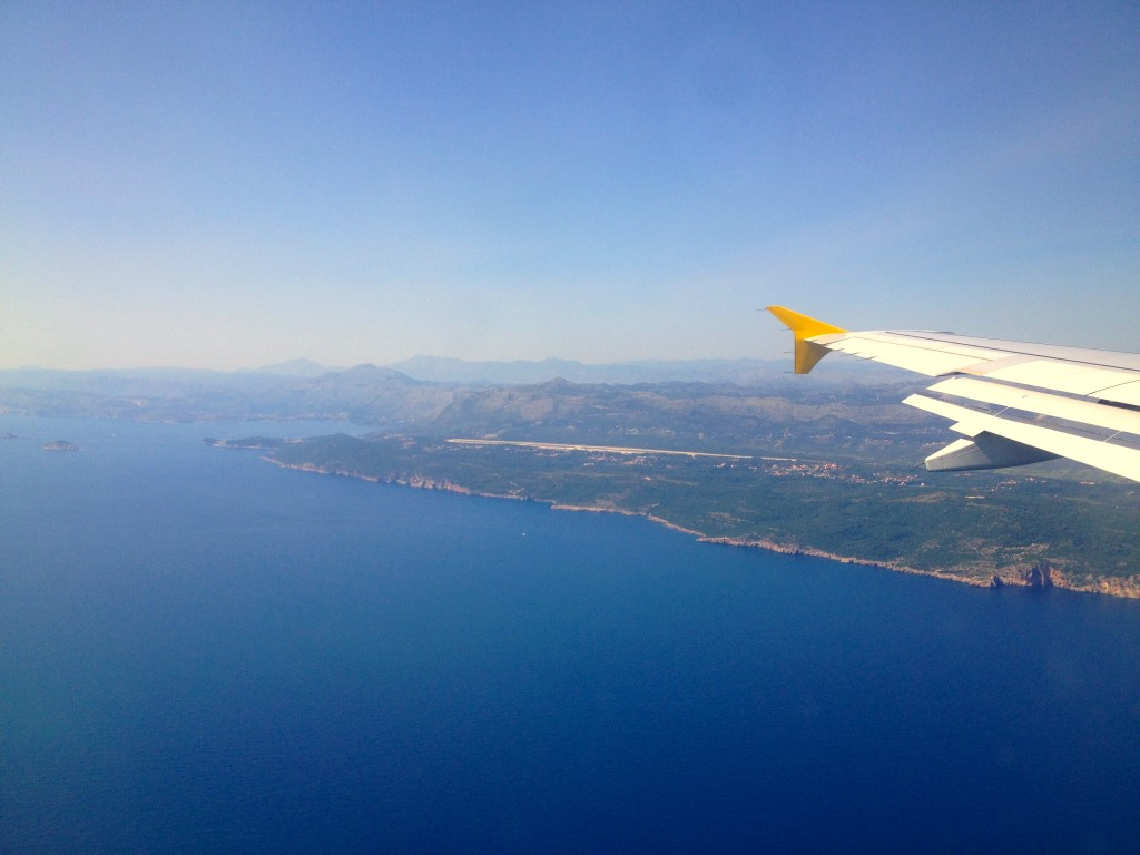 Airplane to Dubrovnik