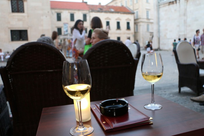 Wine in Old Town Dubrovnik
