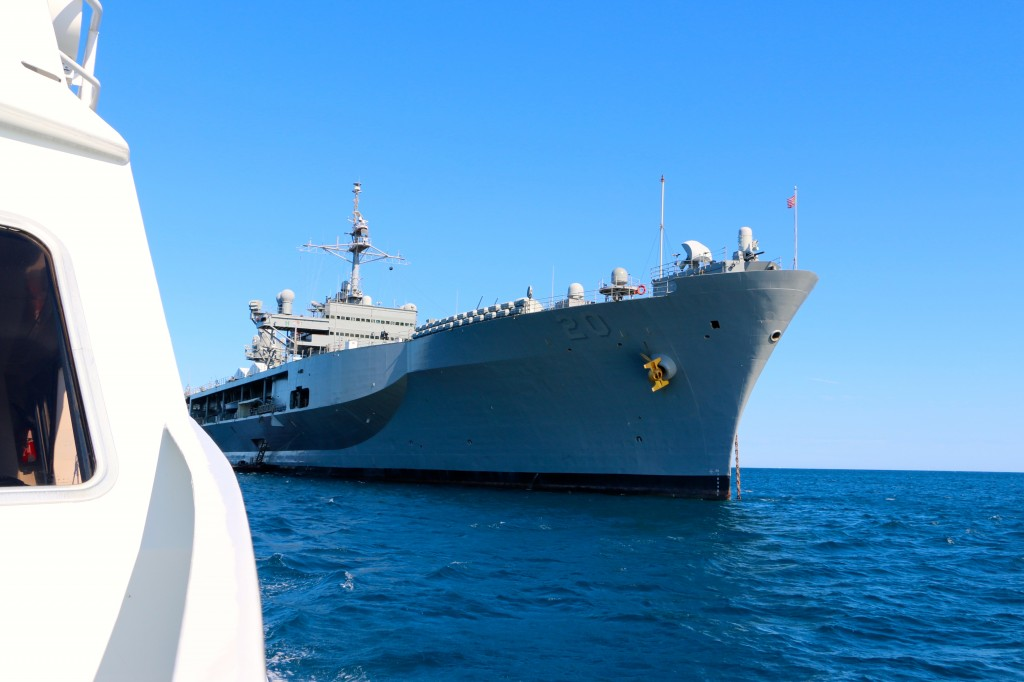 USS Mount Whitney at Anchor Cannes France