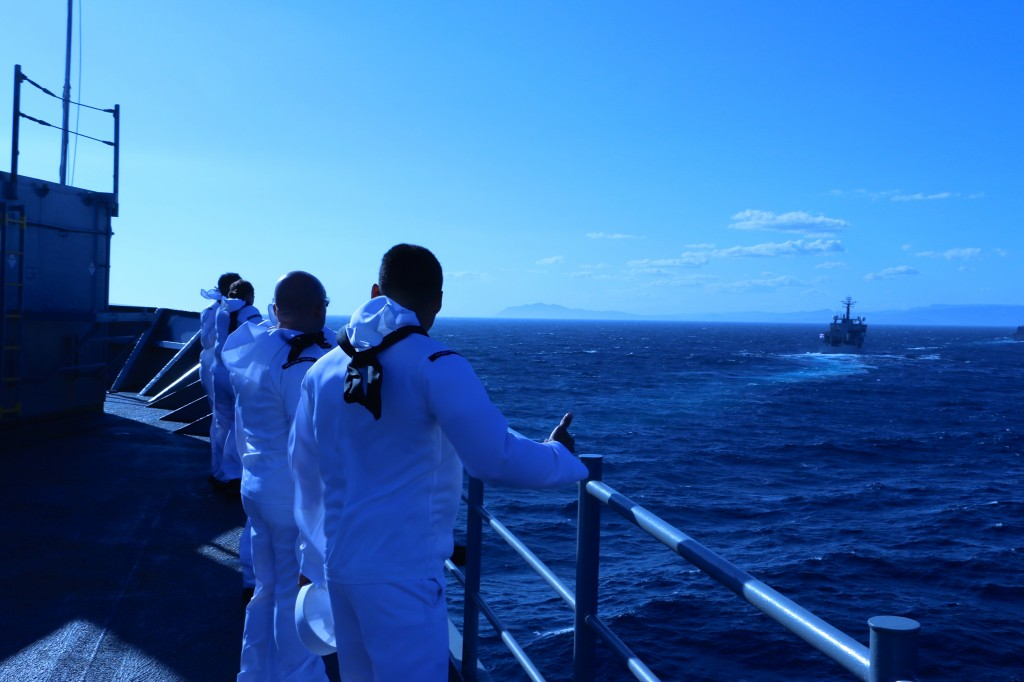 Naval Exercise off the Coast of Cannes France