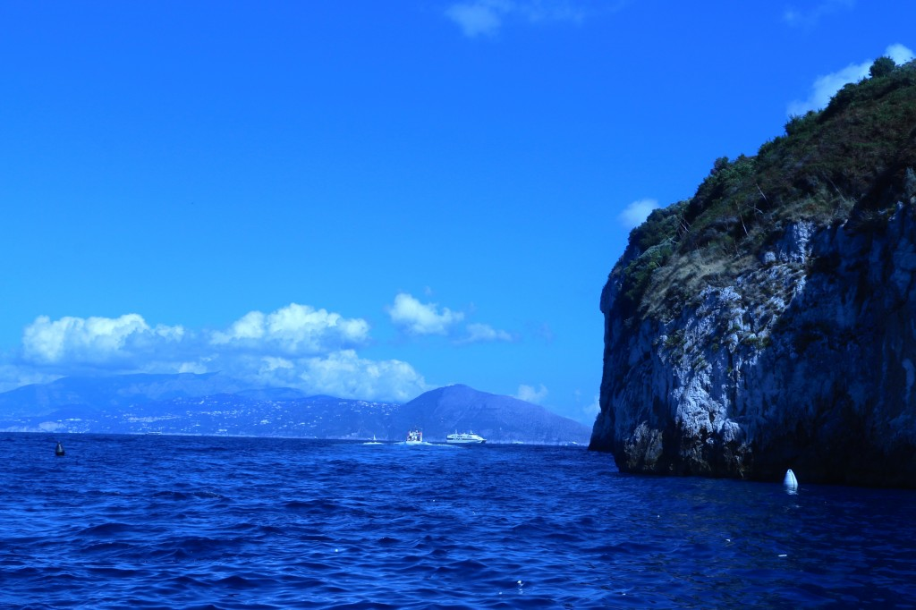 Headed for Capri, Italy by boat