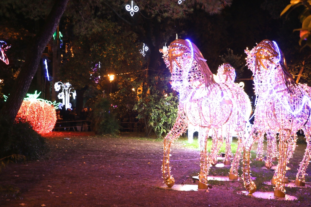 Story Book Forest Lights Salerno Italy 2