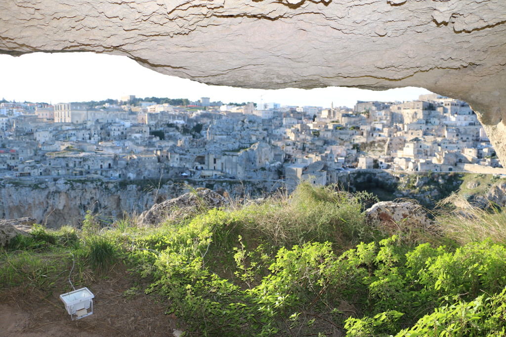 Matera Italy from inside a cave
