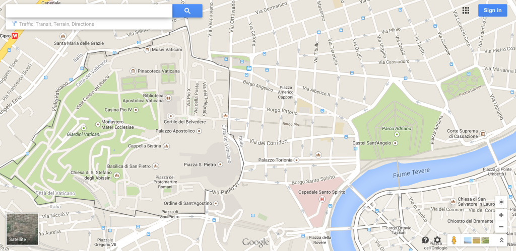 Google Maps Snap Shot Castel Sant Angelo