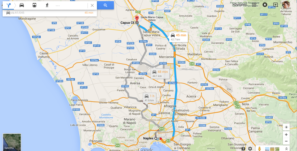 Directions to Capua Italy