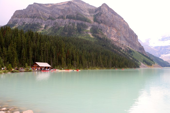 Lake Louise beginning of Icefields Parkway