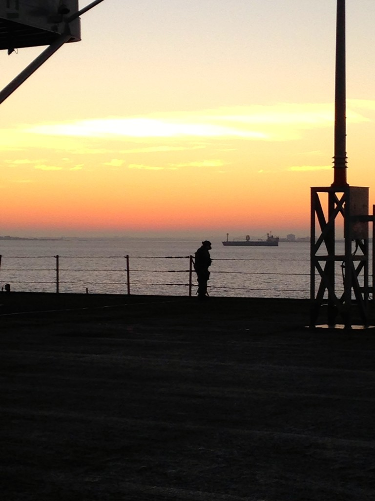 Sunrise onboard USS Mount Whitney