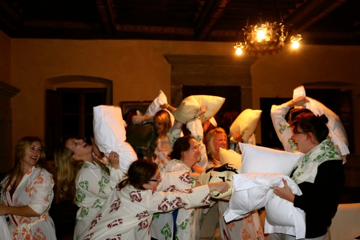 Pillow fight in a Tuscan Castle, All Girls! 19
