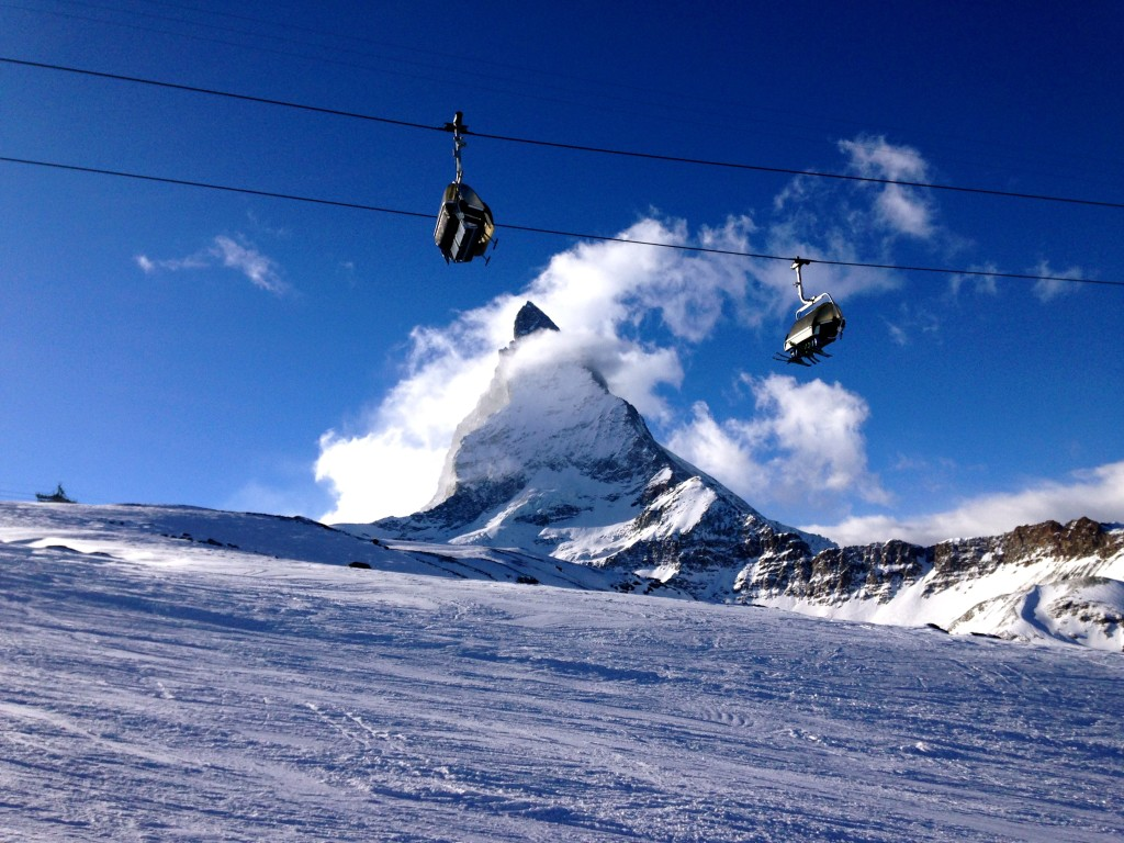 Skiing in Zermatt, Switzerland 23