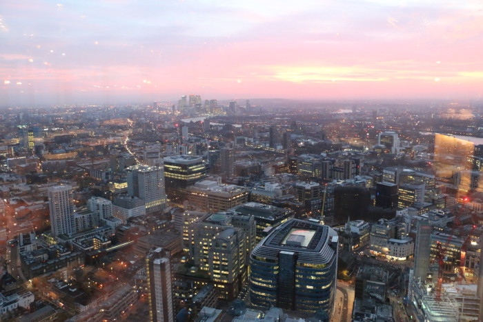 Sunrise View Duck and Waffle, London 3