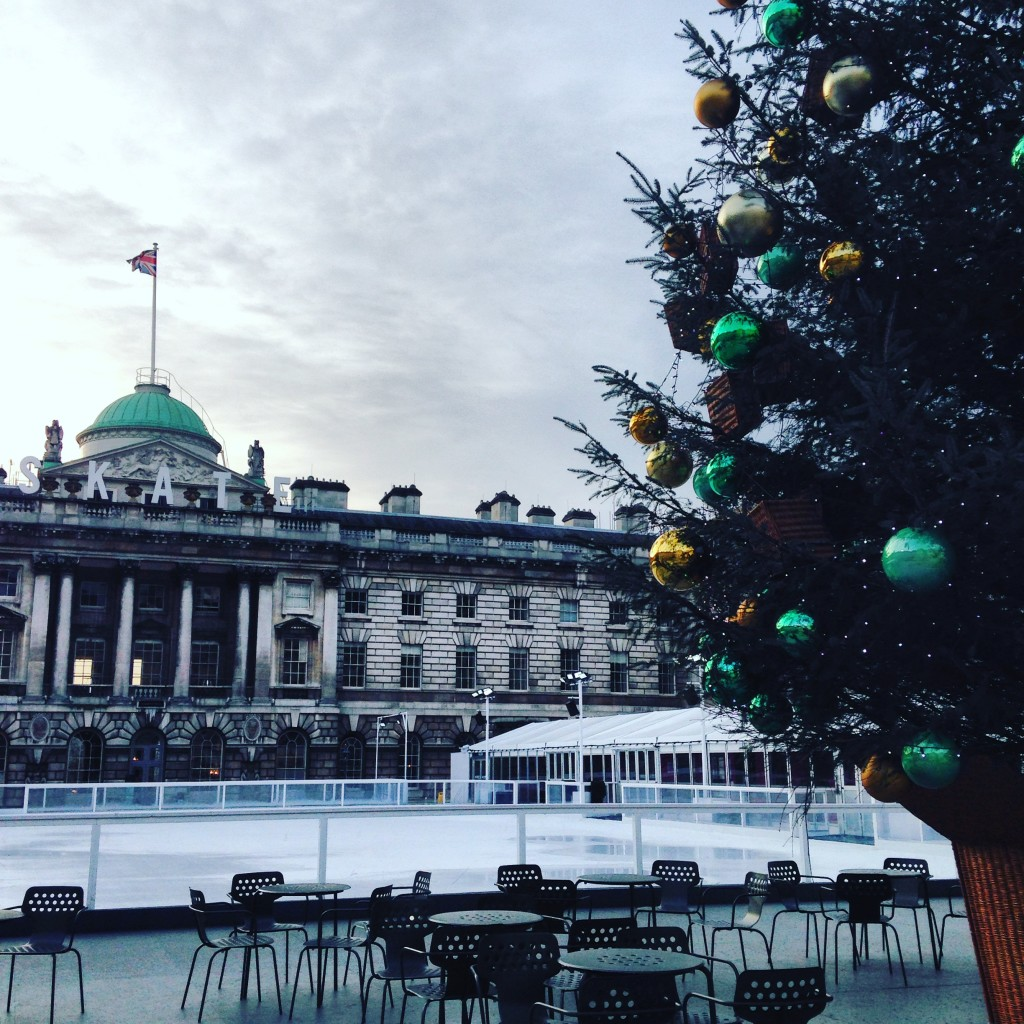 Ice Skating at Summerset House London 3700