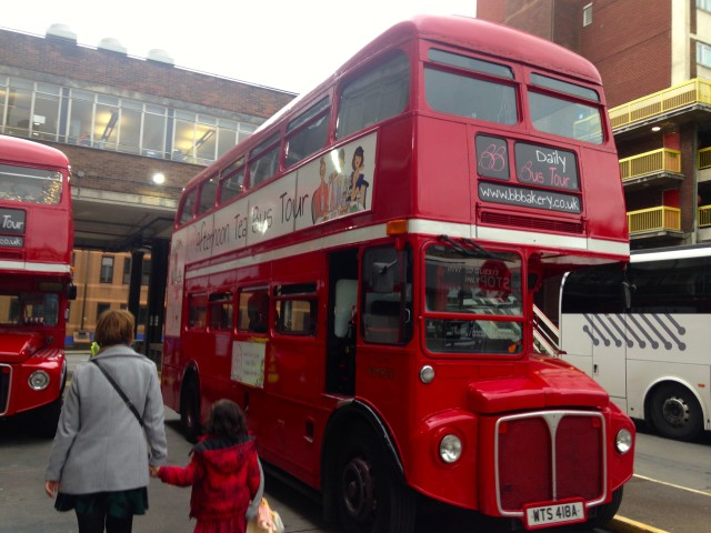 High tea, double decker bus tour