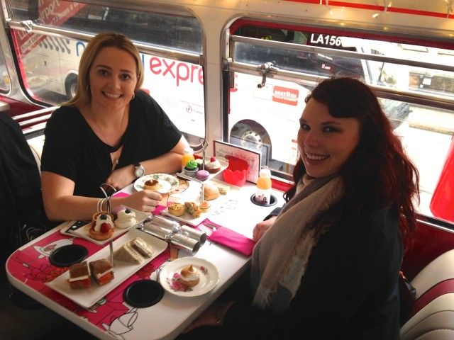 High tea, double decker bus tour 2
