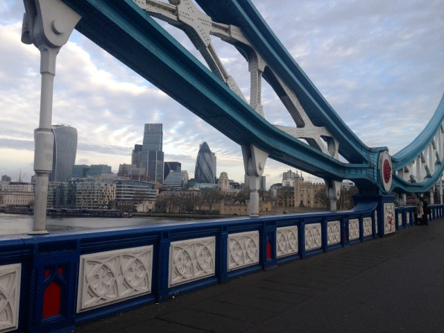 Biking on the London Bridge