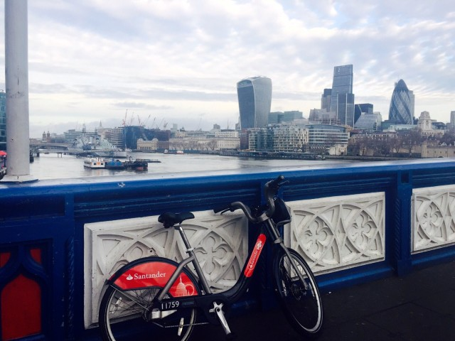Biking on the London Bridge 2