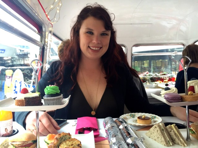High tea, double decker bus tour 3