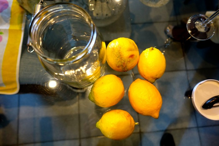 Learning how to make Limoncello 2