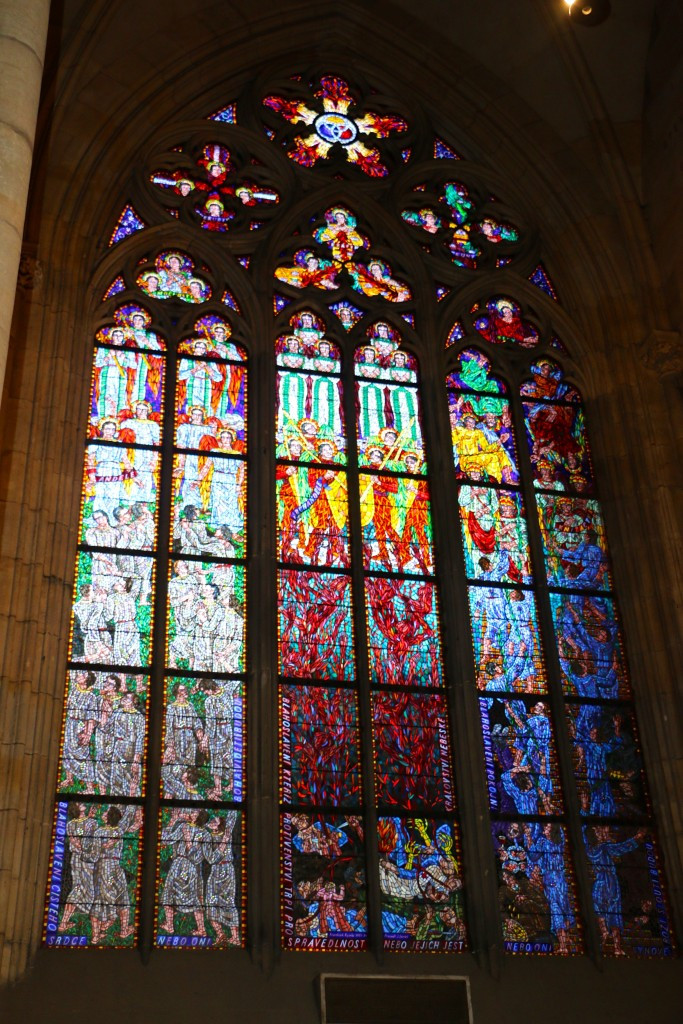 stained glass at the Prague Cathedral