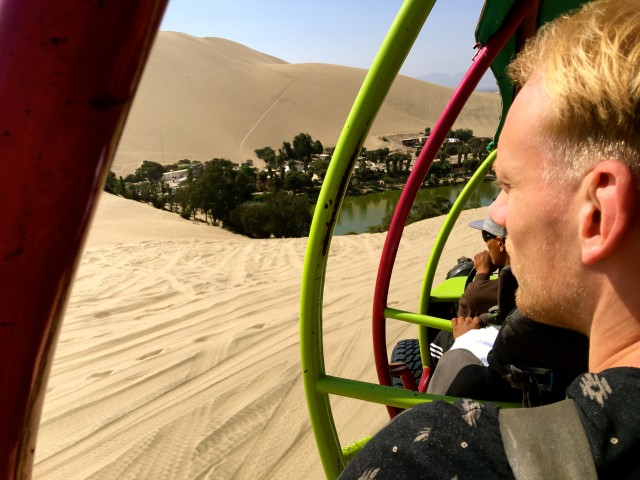 Sand boarding with Huacachina Peru 5