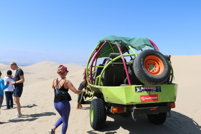 Sand boarding with Huacachina Peru 18