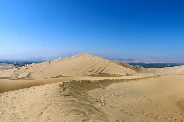 Sand boarding with Huacachina Peru 19