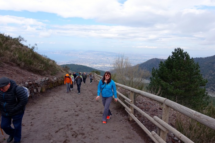 hiking Mt. Vesuvius Volcano, Naples Italy 12