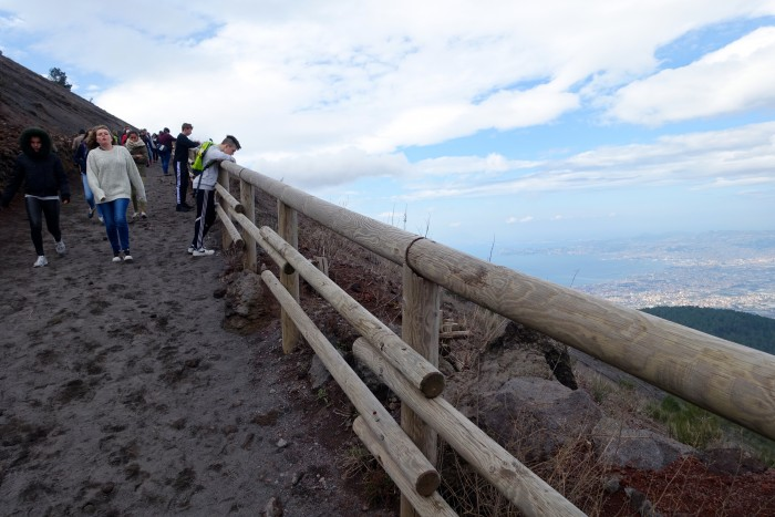 hiking Mt. Vesuvius Volcano, Naples Italy 13