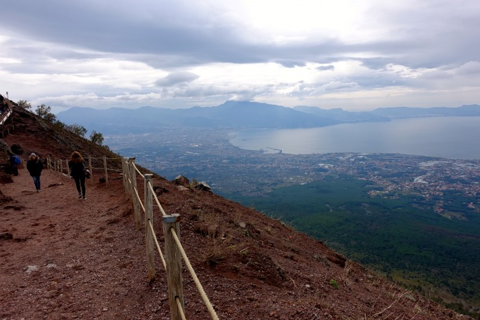 hiking Mt. Vesuvius Volcano, Naples Italy 18
