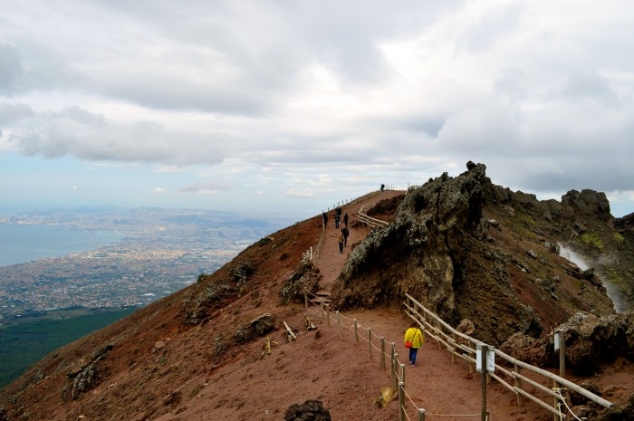 hiking Mt. Vesuvius Volcano, Naples Italy 8