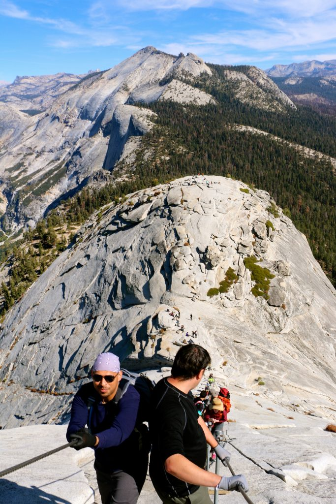 Climbing Half Dome Yosemite National Park 7
