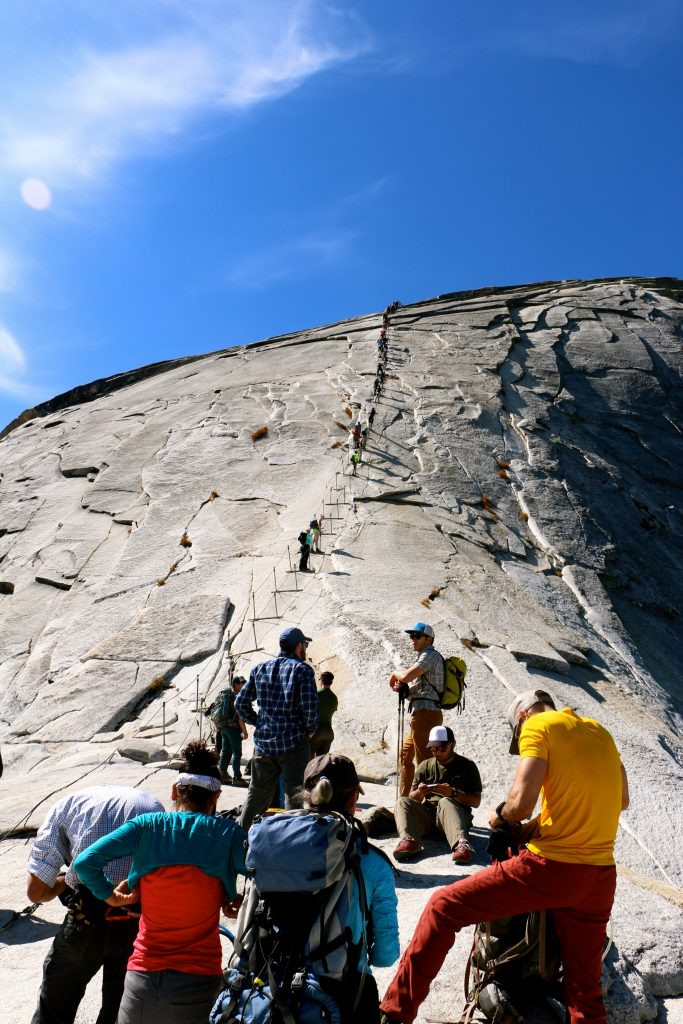 Climbing Half Dome Yosemite National Park 8