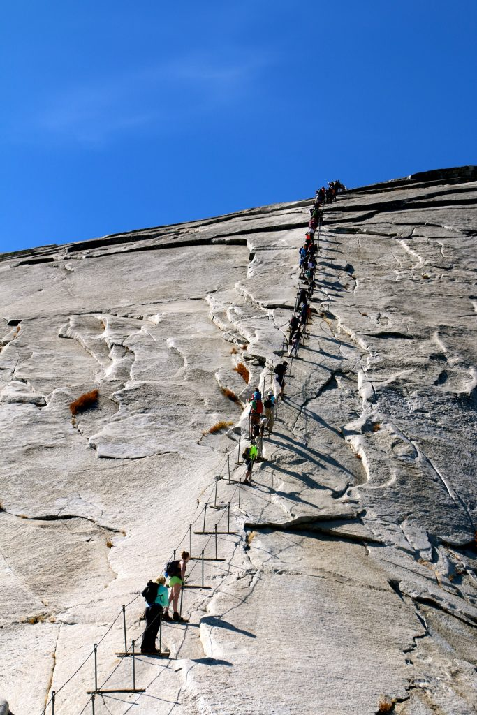 Climbing Half Dome Yosemite National Park 9
