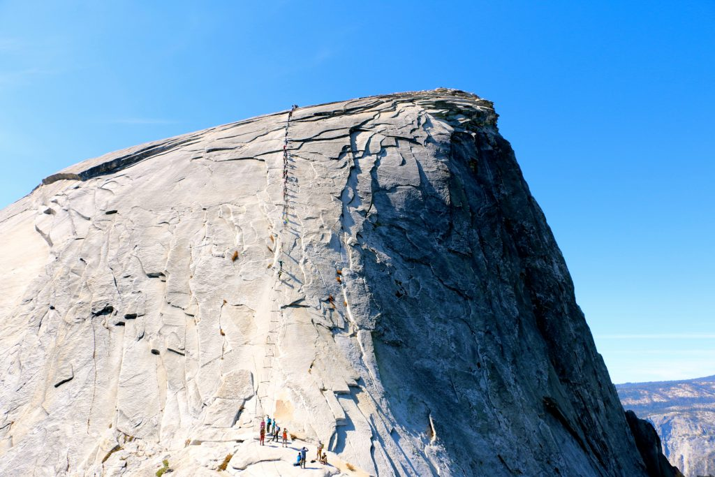 Climbing Half Dome Yosemite National Park 43