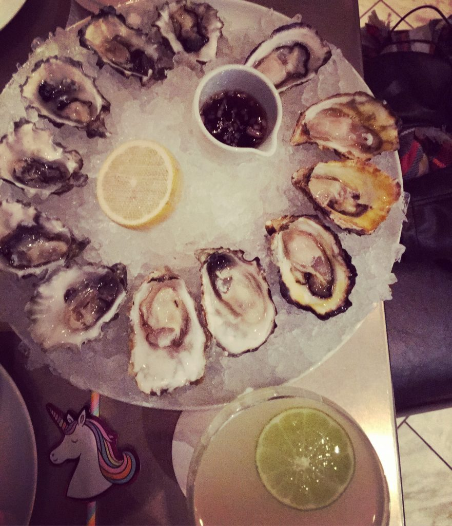Oysters at Notch8 Vancouver BC