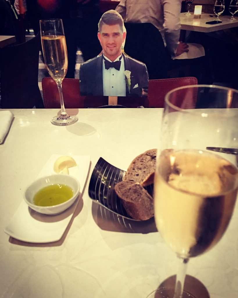Fancy dinner with Nic for our Birthday's!
