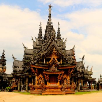 Ms. Lonely at the Sanctuary of Truth, Pattaya Thailand