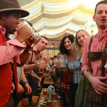 Huge Tent, Lederhosen, Drindls… Must be Volksfest Opening Weekend!