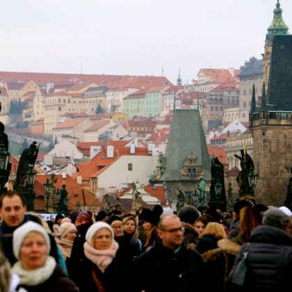 Bringing in the New Year- Prague, Czech Republic. WOO!