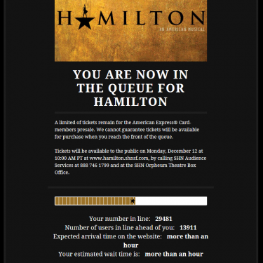 Getting Hamilton Tickets for San Francisco's Show